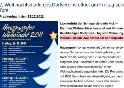 Prackenbach Weihnachtsmarkt